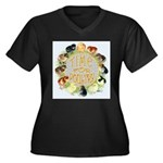 Time For Poultry2 Women's Plus Size V-Neck Dark T