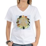 Time For Poultry2 Women's V-Neck T-Shirt