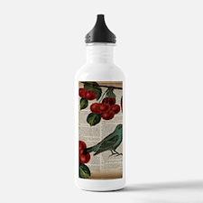 botanical print bird c Water Bottle