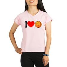 I Heart Basketball Performance Dry T-Shirt