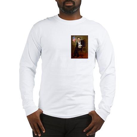 Lincoln & French Bulldog (lap) Long Sleeve T-Shirt