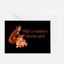 Halloween Vampire Greeting Card