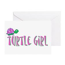 Turtle Girl Greeting Card