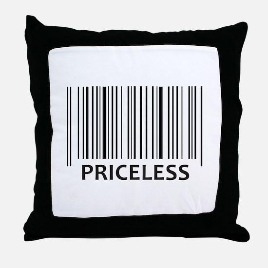 PRICELESS BAR CODE Throw Pillow