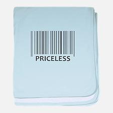 PRICELESS BAR CODE baby blanket