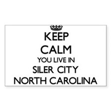 Keep calm you live in Siler City North Car Decal