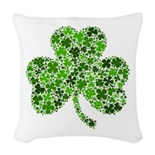 Shamrock of Shamrocks Woven Throw Pillow