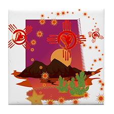DESERT ZIA Tile Coaster