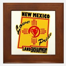 NEW MEXICO LOVE AND PRIDE Framed Tile