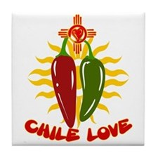 CHILE LOVE Tile Coaster