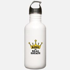 King of Real Estate Water Bottle