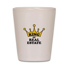 King of Real Estate Shot Glass