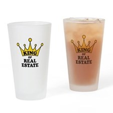 King of Real Estate Drinking Glass