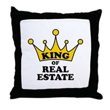 King of Real Estate Throw Pillow