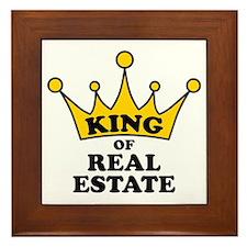 King of Real Estate Framed Tile