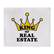 King of Real Estate Throw Blanket