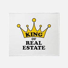 King of Real Estate Throw Blanket