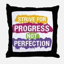 Strive for Progress Throw Pillow