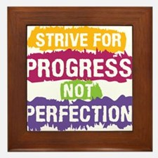 Strive for Progress Framed Tile