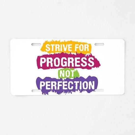 Strive for Progress Aluminum License Plate