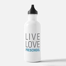 Live Love Preschool Sports Water Bottle