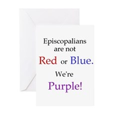 Episco-Purple Greeting Card