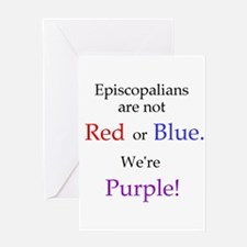 Episco-Purple Greeting Card