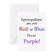 Episco-Purple Greeting Cards (Pk of 10)