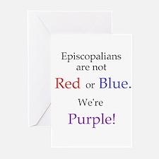 Episco-Purple Greeting Cards (Pk of 20)