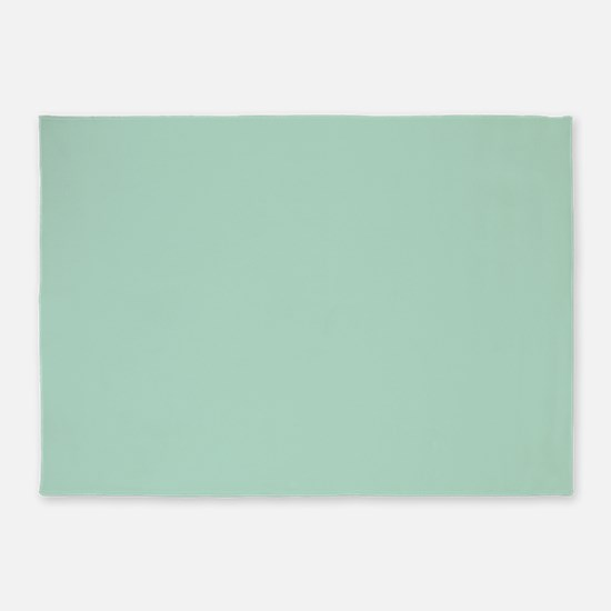 beach seafoam green 5'x7'Area Rug