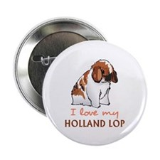 """I Love My Holland Lop 2.25"""" Button (10 pack)"""