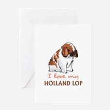 I Love My Holland Lop Greeting Cards