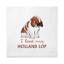 I Love My Holland Lop Queen Duvet