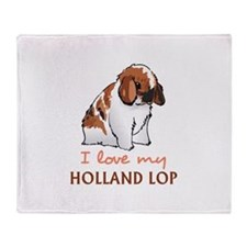 I Love My Holland Lop Throw Blanket