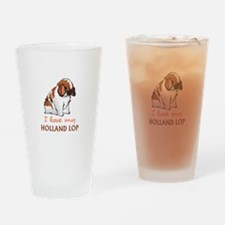 I Love My Holland Lop Drinking Glass