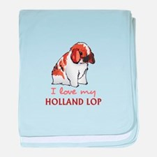I Love My Holland Lop baby blanket
