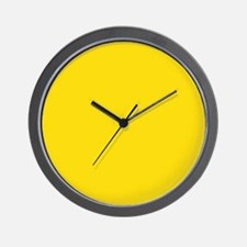 abstract bold yellow Wall Clock