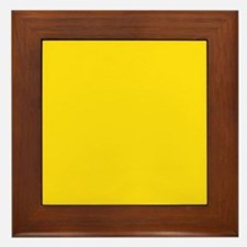 abstract bold yellow Framed Tile