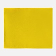 abstract bold yellow Throw Blanket