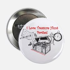 "I Love Treasure Hunt Parties 2.25"" Buttons 10 pk"