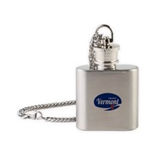 Haystack Ski Resort Vermont Epic Flask Necklace