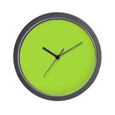cute Neon Green Wall Clock