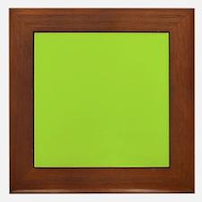 cute Neon Green Framed Tile