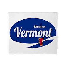 Stratton Mountain Ski Resort Vermont Throw Blanket