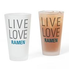 Live Love Ramen Drinking Glass