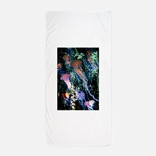 jellyfish forest.png Beach Towel