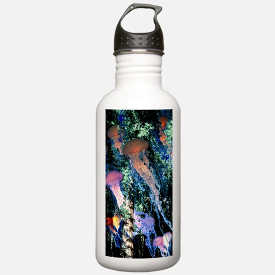 jellyfish forest.png Water Bottle