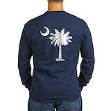 South carolina state flag Long Sleeve Dark T-Shirts