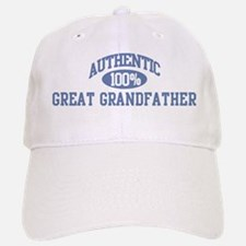 Authentic Great Grandfather Baseball Baseball Cap