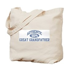Authentic Great Grandfather Tote Bag